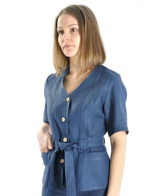 Блузка женская из льна #019