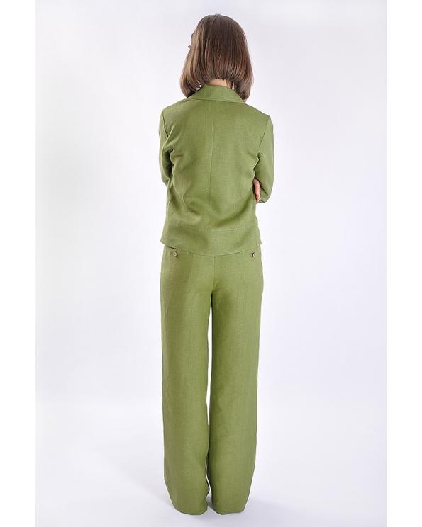Блузка женская из льна #002-01