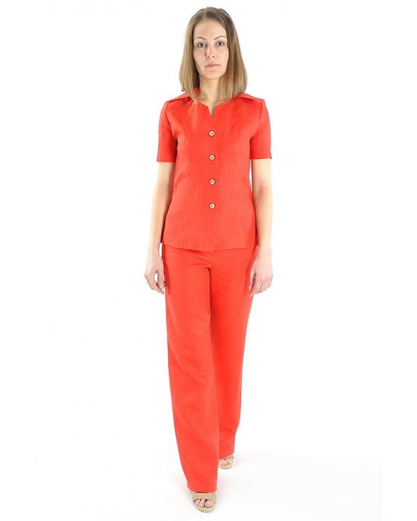 Блузка женская из льна #024