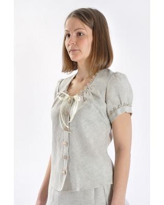 Блузка женская из льна #006