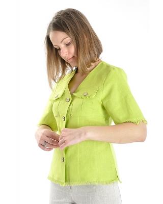 Блузка женская из льна #008