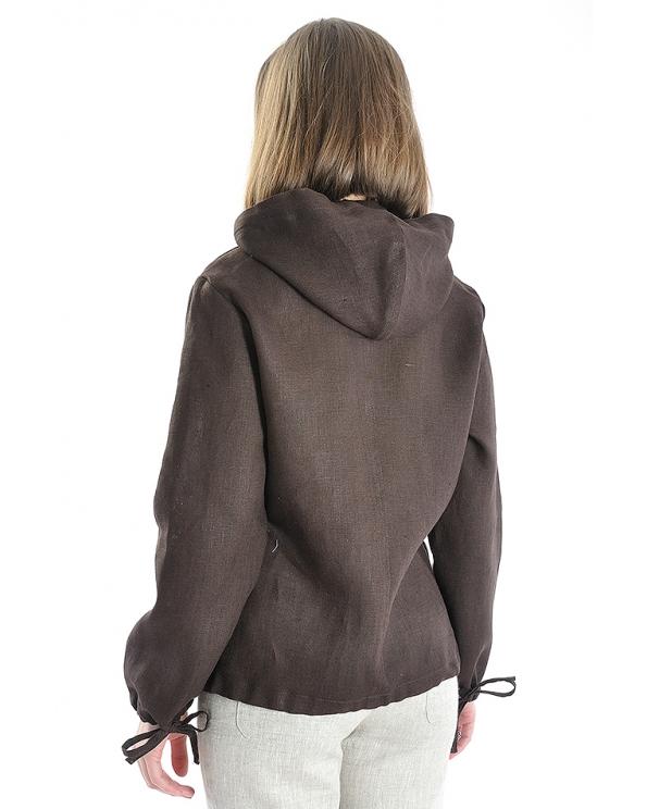 Куртка-ветровка льняная женская #001