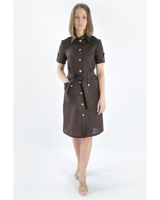 Платье льняное женское #002