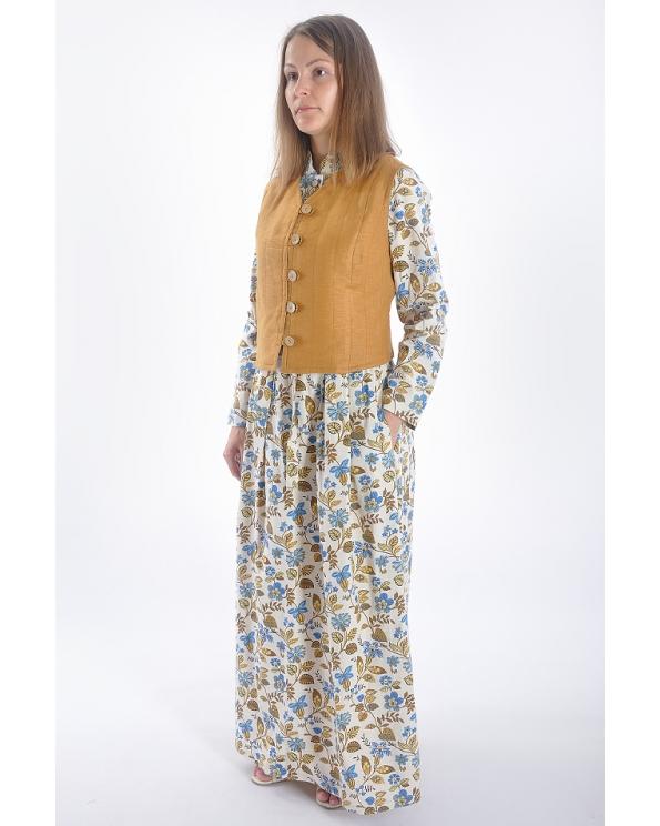 """Платье льняное женское #025 """"Цветочное настроение"""""""
