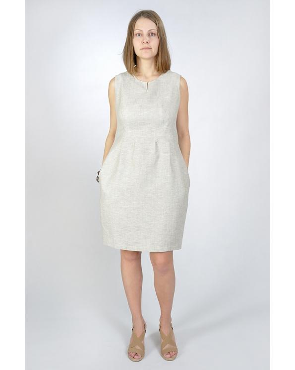 Платье льняное женское #012