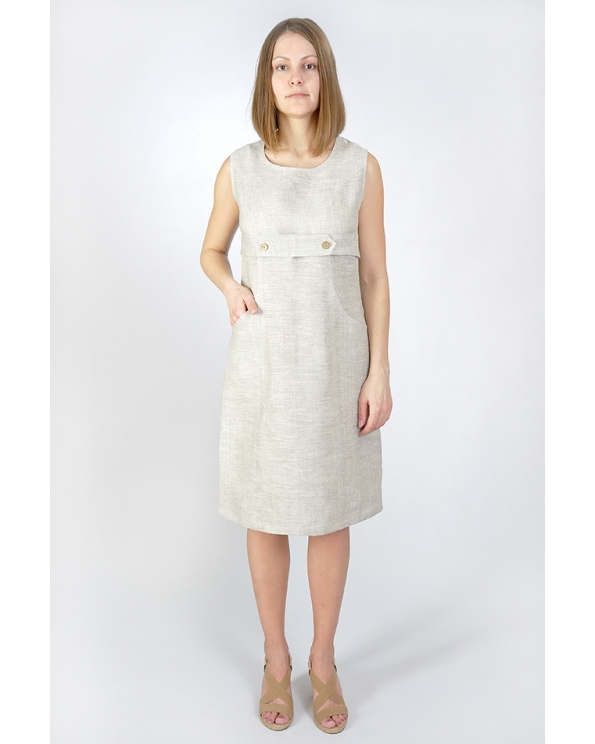 Платье льняное женское #009