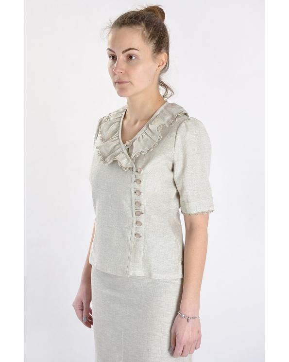 Блузка женская из льна #012