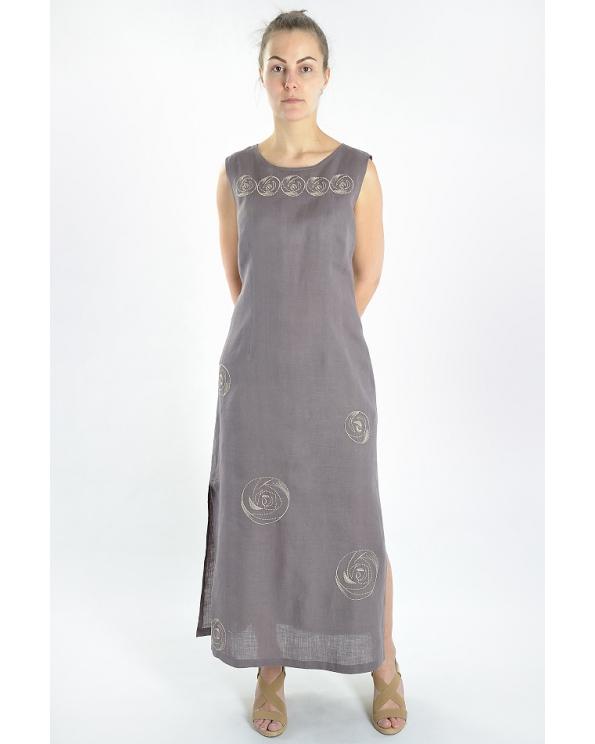Платье льняное женское #008