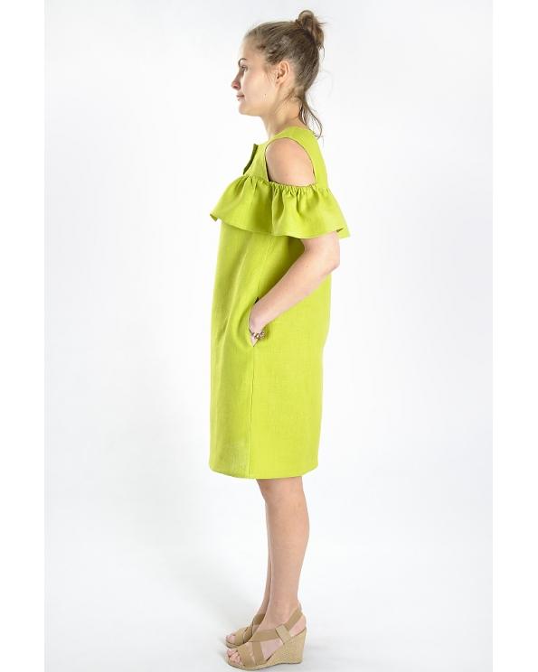 Платье льняное женское #031