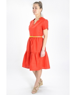 Платье льняное женское #032