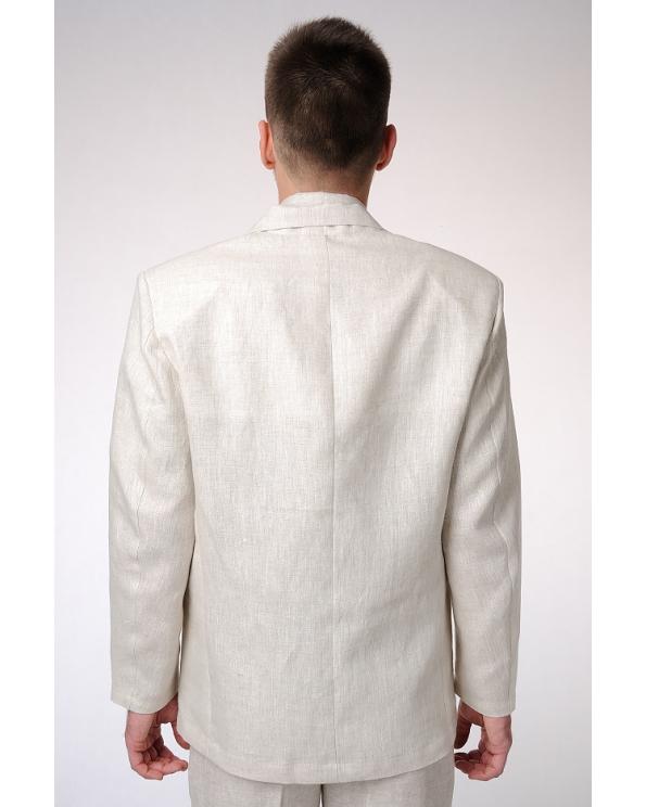 Пиджак льняной мужской классический