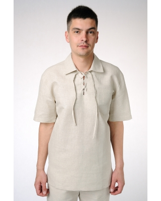 Рубашка мужская с завязками