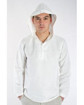 Рубашка льняная мужская #17-10