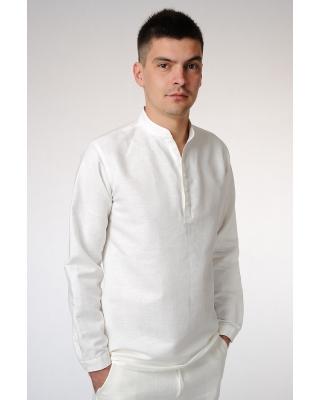 Рубашка льняная мужская #17-12