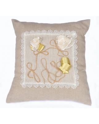 Подушка из льна декоративная