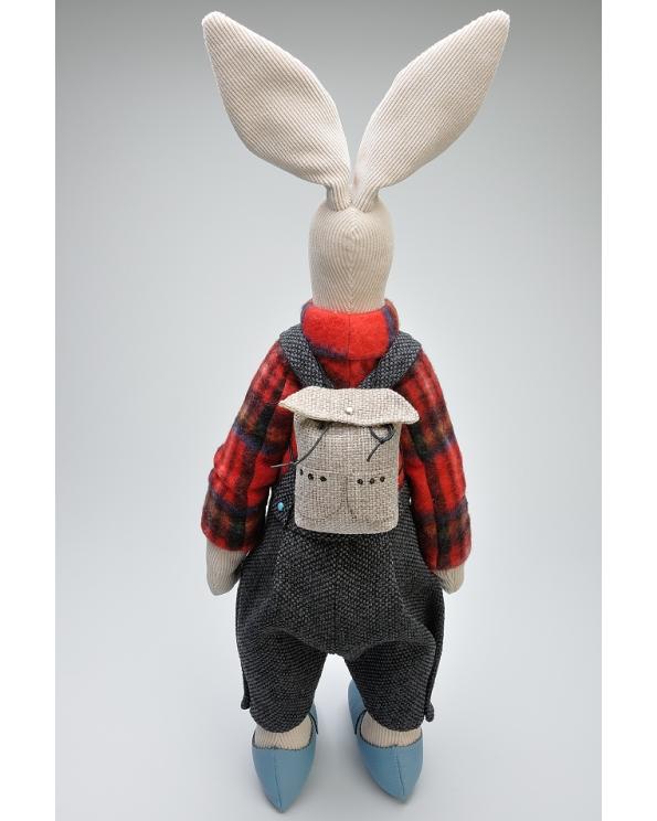 """Кукла """"Заяц с рюкзаком"""""""