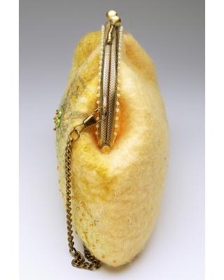 Сумка шерстяная желтая